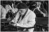 an interesting man ... (miriam ulivi) Tags: miriamulivi nikond7200 england uk london streetphotography man uomo people bar stphotographia bn bw monochrome blackandwhite