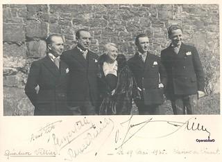QUATUOR VILLIER au complet, Casino de Dinant, 19/05/1935