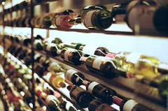 Vinoteka. Wine boutique in Lviv. (Ігор Кириловський) Tags: academicianhnatiukstr lviv ukraine slr nikonf5 nikkor 50mmf18afd film kodak colorplus200 bw uvhaze mrcnano xspro digital vinoteka wine boutique c41