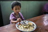 Little Girl - Big Plate 6208 (Ursula in Aus) Tags: banhuaymaegok banhuaymaegokschool hilltribeeducationprojects maehongson maesariang thep thailand