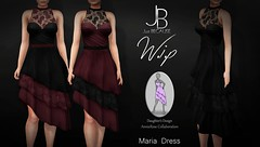 Work in Progress - Maria Dress - COMING SOON! (Just BECAUSE_SL) Tags: annierose collaboration work progress wip coming soon original mesh dress ruffles tiered lace cotton mid length skirt sweetheart top neck waist band