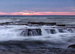 Seafalls || Wombarra (David Marriott - Sydney) Tags: wombarra newsouthwales australia au nsw illawarra dawn sunrise waterfall wave