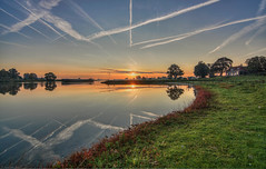 Ravenswaaij (ronver1960) Tags: sunrise river boat reflections betuwe holland gelderland ravenswaaij lek hdr fall autumn september sony tokina