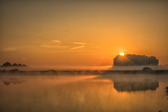 Sunrise (Martine Lambrechts) Tags: sunrise misty landscape water morning