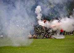 _1060376_edited-1 (ksztanko) Tags: theenglishcivilwarsociety reenactors waltonhall cannonfire smoke fire debris