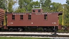 Dearborn, Michigan (Bob McGilvray Jr.) Tags: dearborn michigan henryfordmuseum greenfieldvillage museum display preserved caboose wood wooden brown dm detroitmackinac railroad train tracks