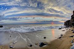Empty (pauldunn52) Tags: beach cliffs ogmore by glamorgan heritage coast wales reflections sky sand wet