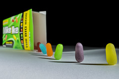 March of the Mike & Ike's (MrDiscoDucks) Tags: mikeike brenden fleming candy tabletop product food color march mike ikes nikon d3300 photography marching foodphotography playful play illionis studio macro