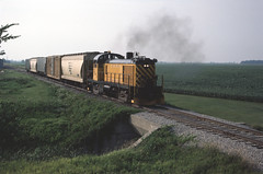 Tuscola & Saginaw Bay Aug 1984 (Martin W. Burk) Tags: tuscola saginaw bay railway railroad tsby michigan alco train