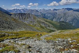 Among mountains. Привал по пути на хребет Кара-Тюрек