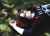 Niziilla (black.em) Tags: alternativegirl blacklady black blackgirl redhair makeup pierced forest nature killstar