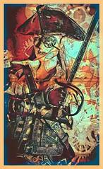 Morgana Steele, captain of 'The Gallows Dancer' (vince.warrican) Tags: pirate originalcharacter creativephotography kitbash onesixthscale phonephotography actionfigurecustom pirates piratehunter badasswoman steampunk steampunkgirl steampunkpirate eyepatch morganasteele gallowsdancer lordsoffortunehazard portraitofawoman map portrait thegallowsdancer