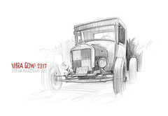 Coupe s (Stefan Marjoram) Tags: hotrod sketch drawing art pencil car