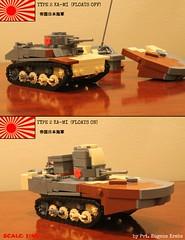 Type 2 KA-MI (gefreiter eugene krabs) Tags: ww2 lego pacific kami tank amphibious boat floats japan ija ijn navy japanese military moc