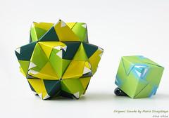 Origami Sonobe by Maria Sinayskaya (irina_chisa) Tags: origami kusudama