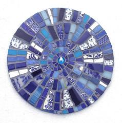 Blue Vortex (bryanilona) Tags: wallhanging panel mosaic mixedmedia glass crockery ceramic tiles mirror piqueassiette glassbead