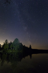 IMG_7358 (Sergey Kustov) Tags: canada quebec mauricie national park night star sky milky way galaxy universe space lake forest nature panorama light water reflection