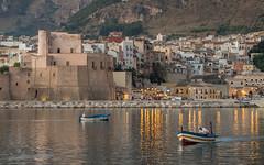 porto di Castellammare del Golfo (sga77) Tags: port castellammare del golfo sicily trapani sea sunrise ship board fish fishing castle