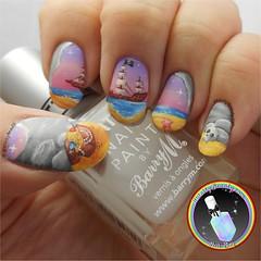 Freehand Pirate Cove! (ithinitybeauty) Tags: nails nails2inspire nail nailsoftheday notd nailart nailswag nailpolish nailsart nailartwow nailartist nailblog naildesign nailporn nailvarnish nailedit nailery nailblogger blogger beauty art acrylic artwork landscape painting