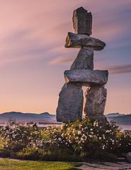 Sunset on English Bay (Majime-SPN) Tags: nikon nikondslr nikond5500 dslr d5500 nature natural vancouver canada canadian inukshuk statue famous landmark culture sunset long exposure longexposure wideangle wide wideanglelens sigmawideanglelense sigmawideanglelens
