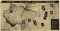 Map: Proposed Post-War Highway Program (Cambridge Historical Commission) Tags: cambridge cambridgema transportation innerbelt highways maps