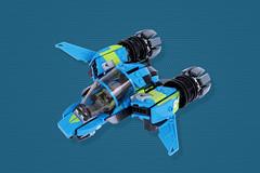 Berry Blue Banshee (TOKYO TAG TEAM) Tags: lego plane racer banshee or something
