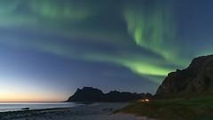 VIDEO: 'Lofoten Islands Aurora' - Norway (Kristofer Williams) Tags: timelapse video aurora auroraborealis northernlights night sky stars nightscape lofoten norway wildcamping autumn arctic beach sea coast mountains