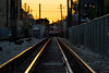 Brown Line Sunset (Andy Marfia) Tags: chicago albanypark cta el l train tracks brownline sunset orange yellow d7100 70300mm 1400sec f48 iso1000