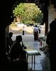 Shwe Dagon shopkeepers (judithbluepool) Tags: myanmar burma yangon rangoon shwedagonpagoda shopkeepers southernentrance silhouette