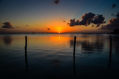 Sunset on the Lagoon at La Isla Shopping Village - Cancun Mexico (mbell1975) Tags: cancún quintanaroo mexico mx sunset lagoon la isla shopping village cancun yucatán yucatan quintana roo riviera maya rivieramaya water caribbean sea ocean gulf cove bay yellow orange sun
