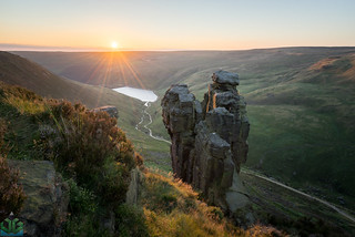The Trinnacle Sunset - Peak District Photography
