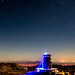 Adorable Little Colorful Perseid Meteor Over Desert View Tower (slworking2) Tags: ocotillo california unitedstates us desertviewtower jacumba inkopah desert tower historic architecture meteor perseids 2017 perseidmeteor