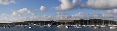 Falmouth view from quayside (dieselgolfer) Tags: falmouth yachts boats autopanorama