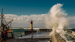 Tide/wind/Swell surge (AndreDiener (ALDPhoto)) Tags: wave jetty harbourwall hightide highwater crashing waves
