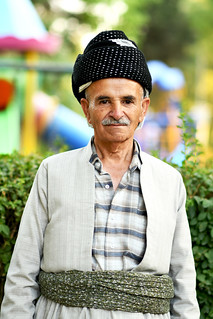 Kurdish man in traditional dress, Sulaymaniyah, Iraqi Kurdistan