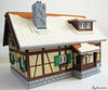 Winter Alpine Cottage (1982redhead) Tags: lego cottage architecture winter moc shutters alpine tudor faller