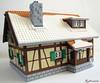Winter Alpine Cottage (1982redhead) Tags: lego cottage architecture winter moc shutters alpine tudor faller
