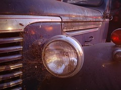 Letting it Linger (RZ68) Tags: 40s chevrolet chevy truck old classic rusty abandoned city urban lg g6 lgg6 wideangle longexposure