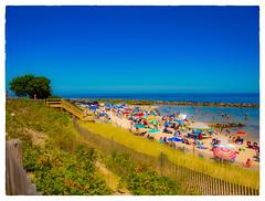 Corporation Beach (Timothy Valentine) Tags: 2017 ocean large people 0817 friday beach fence dennis massachusetts unitedstates us