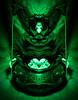 Green Sym Clown (jgesq) Tags: strange surreal symmetry abstract lightpainting lightpaintingbrushes lightbrushtools godlight