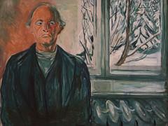 Edvard Munch, Self-Portrait by the Window, ca. 1940, SFMOMA (Sharon Mollerus) Tags: edvardmunchbetweentheclockandthebedexhibit sfmoma sanfranciscomuseumofmodernart sanfrancisco california unitedstates us cfptig17