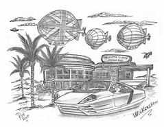 Wickersham (rod1691) Tags: bw scifi grey concept custom car retro space hotrod drawing pencil h2 hb original story fantasy funny tale automotive art illistration greyscale moonpies sketch