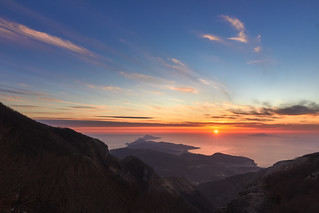 Sunset from Monte Faito - Campania