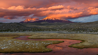 Lauca river in flames