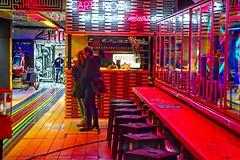 Black Supermarket Carte Noire (Edgard.V) Tags: france frança francia paris parigi bar street art cocktail café caffé coffee shop artists couleurs cores colors colori reflets rifessi reflexos reflection glass verre copos bicchieri vitrines vetrine vitrinas rouge red rosso vermelho tabouret