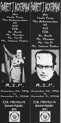 Forrest J. Ackerman Bookmarks (Donald Deveau) Tags: fja forrestjackerman bookmarks famousmonsters filmland