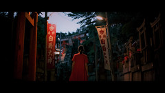 Fushimi Inari-taisha, Kyoto, Japan (emrecift) Tags: candid portrait cityscape night low light street photography temple shrine myst kyoto japan cinematic 2391 anamorphic cinemorph filter sony a7 alpha legacy lens glass canon new fd 50mm f14 emrecift
