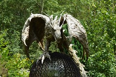 There Be Dragons (suekelly52) Tags: dragon outdoor sculpture sculpturepark wingwednesday
