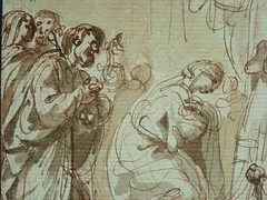SUVÉE Joseph Benoît - La Présentation de Jésus au Temple (drawing, dessin, disegno-Louvre INV34397) - Detail 21 (L'art au présent) Tags: art painter peintre details détail détails detalles drawings dessins 17thcenturydrawings dessinsfrançais frenchdrawings peintresfrançais frenchpainters museum paris france bible adoration worship saint bless sacred holy blessed figure personnes people femme femmes woman man men virgin vierge enfant child enfance kid baby bébé childhood parents family famille croquis étude study sketch sketches dessins18e 18thcenturydrawings