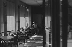 Lonely Lunch (larsupreme) Tags: kentmere100 35mm blackwhite asahi pentax k1000 film
